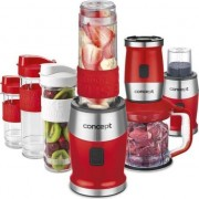 Mini Blender Concept SM-3382, 500 W, 23000 rpm, Smoothie, recipient 570 ml, fara BPA, Rosu