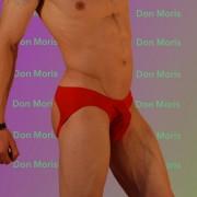 Don Moris Fantasy Plain Jock Bikini Jock Strap Underwear Red DM030925