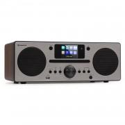 Auna Harvard, компактна система, интернет/DAB+ a UKW-радио, CD-плейър, bluetooth, орех (MG3- Harvard IR WA)