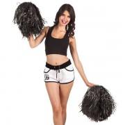 Cheerleader pompon luxe zwart per stuk
