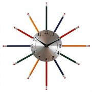 Reloj de pared con Lápices de colores