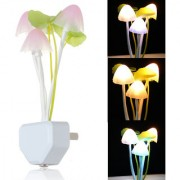 Emm Emm Imported Mushroom Night Lamp with Sensor Technology (Just Plug in and Forget it Glows Automatically When Light are off)