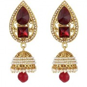 Jewels Gold Alloy Party Wear Wedding Latest Designer Jhumki Earring Set For Women Girls