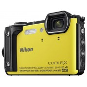 Nikon W300 Digitale camera 16 Mpix Zoom optisch: 5 x Geel WiFi, Waterdicht, 4K Video, GPS, Schokbestendig, Stofdicht, Bluetooth, Full-HD video-opname