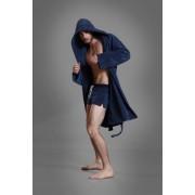 Buns Reversible Bathing Wrap Long Cap Bathrobes Blue 13-BL-4-TCO-30