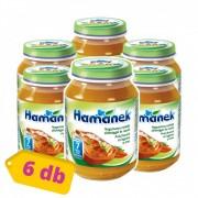Hamánek bébiétel nagymama csirkéje zöldséggel és rizzsel, 7 hó+ (6x190 g)