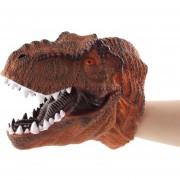 Simulación Guante de dinosaurio de juguete de cabeza - Tiranosaurio naranja
