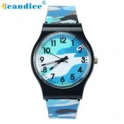 Kids and Boys Quartz Wrist Watches Camouflage Watch Children Girls Silicone Band Z503