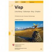 Swisstopo - 274 T Visp - Wandelkaarten Ausgabe 2014