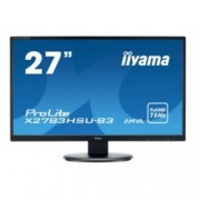 "Монитор Iiyama Prolite X2783HSU-B3, 27"" (68.58 cm) AMVA+ панел, Full HD, 4 ms, 80 000 000 : 1, 300 cd/m², DisplayPort, HDMI, VGA"
