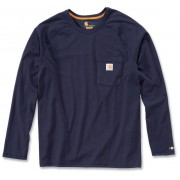 Carhartt Force Cotton Camisa de manga larga Azul Oscuro S