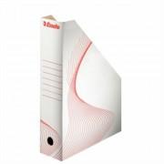 Iratpapucs, karton, 80 mm, összehajtható, ESSELTE Standard, fehér (E493222)