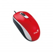 Mouse Optico Alámbrico Usb Rojo Genius
