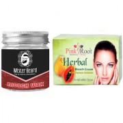 Pink Root Herbal Bleach 250gm WITH Mister Beard Mooch Wax 100gm