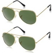 Rich Club Oval Sunglasses(Green)