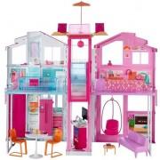 Mattel Barbie Miejski Domek z Wyposażeniem 3-Poziomy DLY32