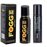 Axe Signature And Fogg Fresh Black Collection Deo Deodorants Body Spray For Men - Pack of 2 Pcs