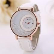 Relojes Mujer 2017 Top Brand Luxury PU Leather Quicksand Rhinestone clock women Quartz Watch womens watches orologi donna