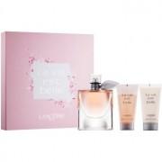 Lancôme La Vie Est Belle set cadou ІХ Eau de Parfum 75 ml + Lotiune de corp 50 ml + Gel de dus 50 ml