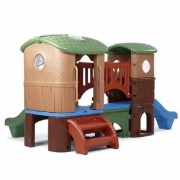Step2 speelhuis Clubhouse Climber bruin 178 x 348 x 232 cm - Bruin - Grootte: One Size