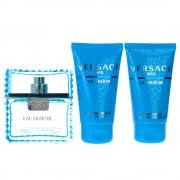 Gianni Versace Man Eau Fraiche 50ml + 50ml Gel de duș + 50ml After Shave Balsam Iv Set