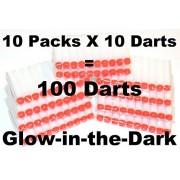 BlaydesSales 100 White Glow In Dark Soft Darts Refill: Refill For Nerf N-Strike Elite Rampage/Retaliator Series B