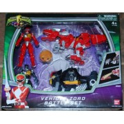 Power Rangers Mighty Morphin Vehicle Zord Battle Set 2Pack Black Red Ranger