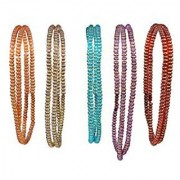 Jewellery making glass beads golden line 5 colors 1000 beads ( 200 each color ) 0.5 mm d