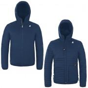 K-Way Vestes hiver homme Capuche Réversible Matelassé Slimfit Jack Light Down Double Bleu Jeans