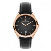 Davidoff Essentials No. 1 Reloj de cuarzo acero inoxidable schwarz-rosegold