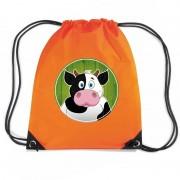 Bellatio Decorations Koeien rugtas / gymtas oranje voor kinderen