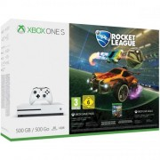Consola MICROSOFT Xbox One S 500 GB, alb + Joc Rocket League
