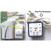 BAOJI CORDLESS/WIRELESS/CALLING REMOTE DOOR BELL WITH FREE EXTENSION CORD/BORD
