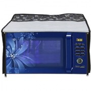 Glassiano Printed Microwave Oven Cover for IFB 25 Litre Model 25SC3 Metallic Silver