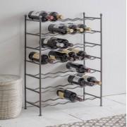 Wijnrek 42 flessen - grote metalen wijnrek metaal Vrijstaand Zig Zag staal