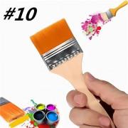 Generic Number 10 Nylon Paint Brush Artists Acrylic Oil Paint Varnish Brushes Painting