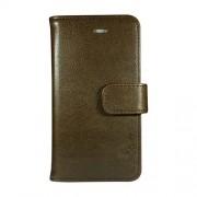 Radicover Mobilcover iPhone 5/5S/SE brun Fasion , PU læder, flipside - 1 Stk