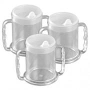 Patterson Mug à deux anses avec large base - Lot de 3
