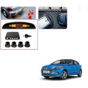 Auto Addict Car Black Reverse Parking Sensor With LED Display For Hyundai Elite i20