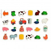 Janod 24 pcs Magnets Garden or Farm