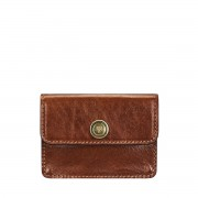 Maxwell-Scott Damen hellbrauner Leder Visitenkartenhalter- Portofino