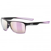 Uvex Occhiale sole Uvex Lgl 33 pol (Colore: black-pink mat, Taglia: UNI)