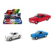 "WELLY DISPLAY - VOLKSWAGEN KARMANN GHIA COUPE 4.75"" 3PCS 43634D"