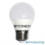 LED lámpa, égő, E27 foglalat, G45 körte forma, 4 watt, 180°, hideg fehér - Optonica