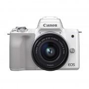 Canon EOS M50 CMOS 24.1MP 4K Wi-Fi Bluetooth Branca + EF-M 15-45 mm