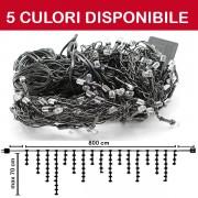 PERDEA TURTURI DE LUMINI 240LED, 8M X MAX 0.7M, DEC240L8MFN