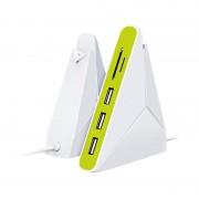 Omega 3-Port USB Hub & microSD, SD Reader - 3-портов USB 2.0 хъб и четец за SD и microSD карти за компютри и лаптопи