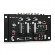 Auna Pro DJ-21, смесител, BLUETOOTH, USB, черен (DJMM2-DJ-21BT)