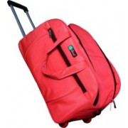 One Up 23 inch/58 cm (Expandable) ExpandableRedTrolleyBag Travel Duffel Bag(Red)