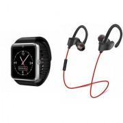 Zemini GT08 Smart Watch and QC 10 Bluetooth Headphone for LG OPTIMUS L3 II(GT08 Smart Watch with 4G sim card camera memory card |QC 10 Bluetooth Headphone )